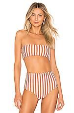 Storm Ravello Bikini Top in Sunburnt Stripe