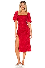 Song of Style Knox Midi Dress in Scarlet Red