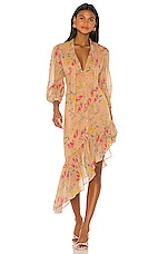 Song of Style Montague Midi Dress in Nude Blossom