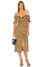 Song of Style Everly Midi Dress in Tiger Multi