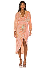 Song of Style Vernon Midi Dress in Opaline Peach
