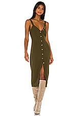 Song of Style Isla Midi Dress in Olive