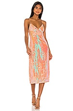 Song of Style Lionel Midi Dress in Opaline Peach