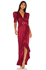 Song of Style Edwin Maxi Dress in Cranberry Red