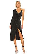 Song of Style Wilbur Midi Dress in Black
