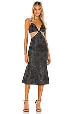 Song of Style Elena Midi Dress in Navy & Black