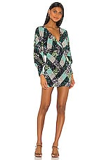 Song of Style Catcher Mini Dress in Argyle Multi