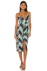 Song of Style Echo Midi Dress in Argyle Multi