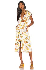 Song of Style Sia Midi Dress in White Fruit