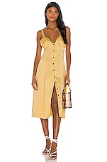 Song of Style Payton Midi Dress in Buttercream Yellow