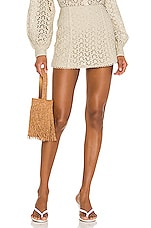 Song of Style Maisie Skort in Natural Oat