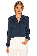 Song of Style Rivka Zip Up Sweater in Teal