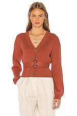 Song of Style Romi Belted Cardigan in Terracotta