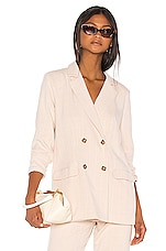 Song of Style Kroy Blazer in Beige Check