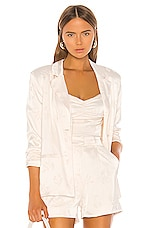 Song of Style Kahlo Blazer in Pearl White