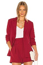 Song of Style Savannah Blazer in Red Berry