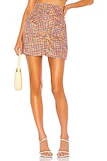 Song of Style Lyric Mini Skirt in Rainbow Multi