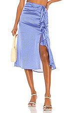 Song of Style Delta Midi Skirt in Blue Dot