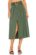Song of Style Mina Midi Skirt in Juniper Green