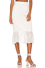 Song of Style Tala Midi Skirt in White