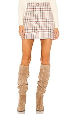 Song of Style Astrid Mini Skirt in Plaid Multi