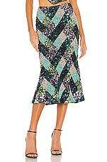Song of Style Flint Midi Skirt in Argyle Multi