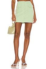 Song of Style Gala Mini Skirt in Green Tea