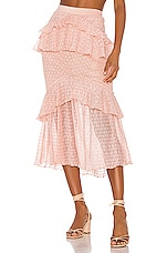 Song of Style Ada Midi Skirt in Pink Blush