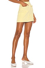 Song of Style Gala Mini Skirt in Citrus Yellow
