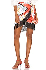 Song of Style Keaton Mini Skirt in Red Scarf