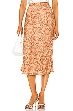 Song of Style Misha Midi Skirt in Moroccan Multi