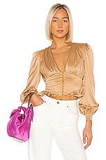 Song of Style Marla Top in Champagne