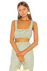 Song of Style Pico Top in Sage Green