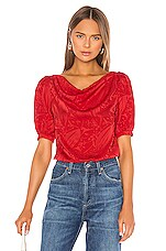 Song of Style Zazi Top in Scarlet Red