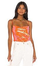 Song of Style Bianca Top in Papaya Orange