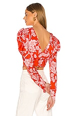 Song of Style Solace Top in Red Dahlia
