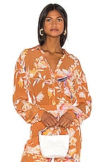 Song of Style Mari Top in Rust Floral