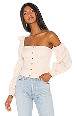 Song of Style Emery Top in Beige Check