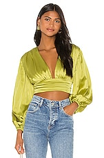 Song of Style Brynn Top in Moss Green