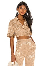 Song of Style Henry Top in Coconut Tan