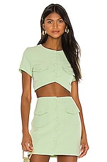 Song of Style Gala Top in Green Tea