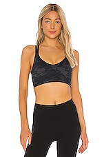 SPANX Look at Me Now Low impact Sports Bra in Black Camo