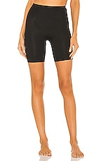 SPANX Thinstincts Mid Thigh Short in Very Black