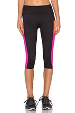 Shaping Compression Pant in Black & Pink Pow