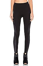 Moto Ponte High Waisted Legging en Very Black