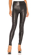 SPANX Quilted Faux Leather Legging in Very Black