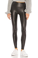 SPANX Petite Faux Leather Legging in Black