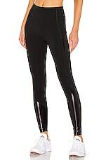 SPANX Gloss Pocket Legging in Very Black