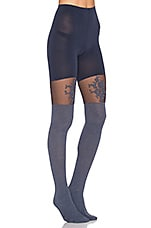 COLLANTS FLORAL LACE OVER THE KNEE