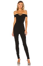 superdown Carine Off Shoulder Jumpsuit in Black
